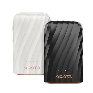 ADATA P10050C Premium Power Bank 10050mAh, 2*USB, Black - AP10050C-USBC-CBK