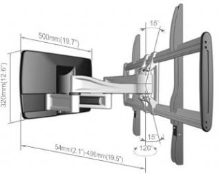 AV-A2020 - AAVARA FLAT DISPLAY WALL SUPPORT 26Inch TO 42Inch.