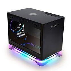 INWIN A1PLUS-BLACK MINI-ITX, TEMPERED GLASS SIDE PANEL, USB3.0, 650W PSU GOLD, Adressable RGB Lighting, 10W Charging Panel