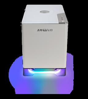 INWIN A1PLUS-WHITE MINI-ITX, TEMPERED GLASS SIDE PANEL, USB3.0, 650W PSU GOLD, Adressable RGB Lighting, 10W Charging Panel
