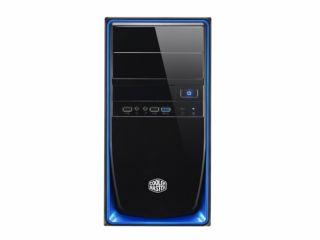 CM ELITE 344 mATX- BLUE- USB3.0- 12cm Fan- NO PSU.