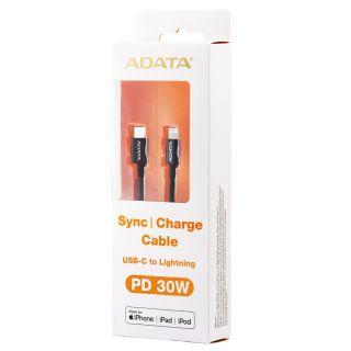 ADATA USB-C - LIGHTNING CABLE BLACK - AMFICPL-1M-CBK