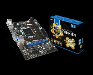 MSI H81M-E33  mATX/GBLAN/1PCIE3.0/USB3.0/2DDR3/VGA/HDMI.