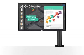 27Inch LG 27QN880-B - IPS with USB-C Ergonomic Arm, Pivot, Height Adjustable, 5ms,Speakers,  QHD, DP, 2*HDMI, 3Yrs.