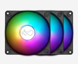 IN WIN LUNA AL120-3PK ARGB CASE FAN 120mm + Controller. 2RAKFS010900