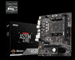 MSI A520M-A PRO AM4 mATX MOTHERBOARD
