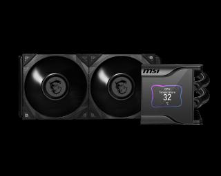 MSI MEG CORE LIQUID S280 - ARGB with LCD Panel, PWM, 2*Fans, 140*120*25mm.