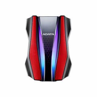 1TB ADATA HD770G EXTERNAL RGB HDD RUGGED RED- AHD770G-1TU32G1-CRD