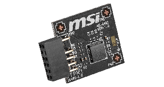 MSI TPM 2.0 - MS-4462 MODULE. B550/A520/Intel 400/500 Series. SPI
