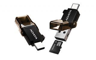 ADATA USB TYPE C OTG READER - ACMR3PL-OTG-RBK