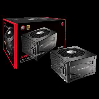 750W ADATA CORE REACTOR  PSU 80PLUS GOLD MODULAR 10Yr Warranty - 75260043