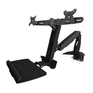 WS742 AAVARA DUAL SIT-STAND WORKSTATION COMBO CLAMP (UP TO 24Inch)