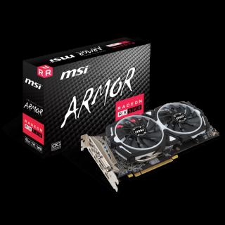 MSI Radeon RX 580 ARMOR 8G OC HDMI*2,DVI-D*1,DP*2.