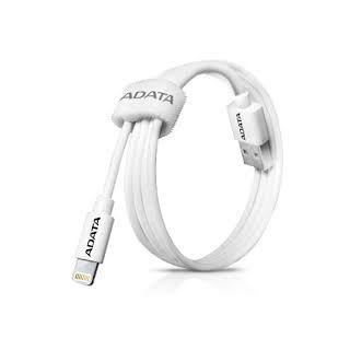 ADATA LIGHTNING CABLE WHITE - AMFIPL-100CM-CWH
