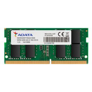 ADATA 8GB DDR4-3200 SODIMM MEMORY AD4S32008G22-SGN