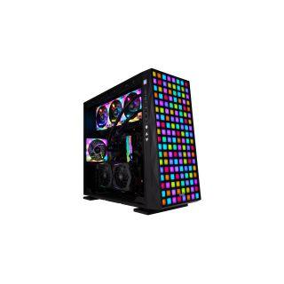 INWIN 309-BLACK, MID TOWER,  SECC TEMPERED GLASS, RGB,  ATX, NO PSU.