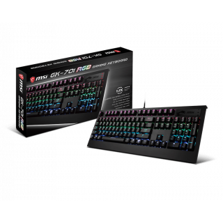 MSI VIGOR GK70 CR GAMING KEYBOARD - Cherry MX RGB RED.