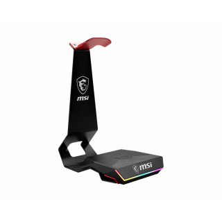 MSI HS01 COMBO GAMING HEADSET STAND & WIRELESS Qi CHARGER 15W.