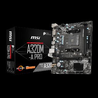 MSI A320M-A PRO mATX/2*DDR4/VGA/DVI/HDMI/USB3.0