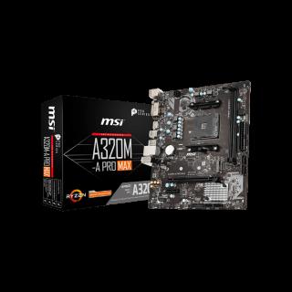MSI A320M-A PRO MAX  mATX/2*DDR4/VGA/DVI/HDMI/USB3.0