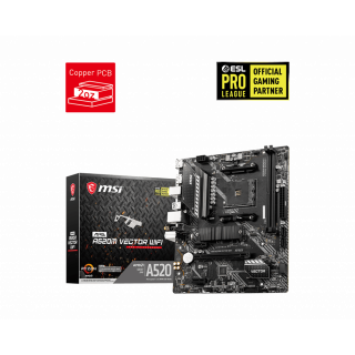 MSI MAG A520M VECTOR WIFI AM4 mATX MOTHERBOARD