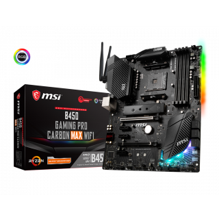 MSI B450 GAMING PRO CARBON MAX WIFI MOTHERBOARD.