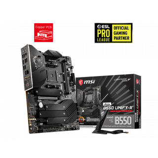 MSI MEG B550 UNIFY-X MOTHERBOARD.
