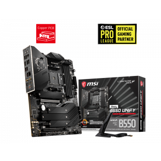 MSI MEG B550 UNIFY MOTHERBOARD.