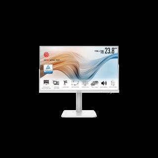 """MSI 24"""" FHD 1920*1080 75Hz 5ms Flat Screen HDMI, Type-C VESA, White  - Modern MD241PW"""