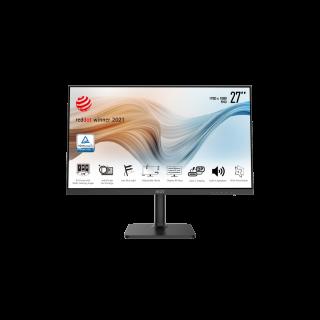 "MSI 27"" FHD 1920*1080 75Hz 5ms Flat IPS, HDMI, DP,  Type-C VESA , Black - Modern MD271P"