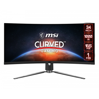 "34"" MSI LCD CURVED PANEL, 165Hz, 3440*1440, 1ms, - MPG ARTYMIS 343CQR"