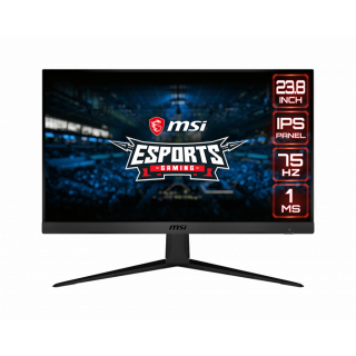 "24"" MSI FHD, FLAT IPS, 75Hz, Freesync, 1ms, 1920*1080, Frameless,  HDMI, DP, - Optix G241V E2"