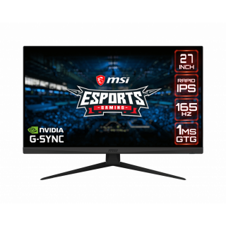 "27"" MSI FLAT MONITOR, 165Hz, 1ms, WQHD, 2xHDMI, DP - OPTIX G273QF"