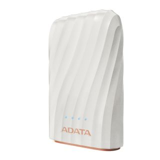 ADATA P10050C Premium Power Bank 10050mAh, 2*USB, White - AP10050C-USBC-CWH