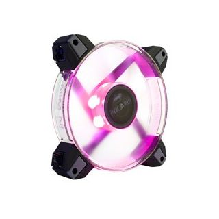 IN WIN POLARIS SILENT RED LED CASE FAN 120mm - BULK PACK.