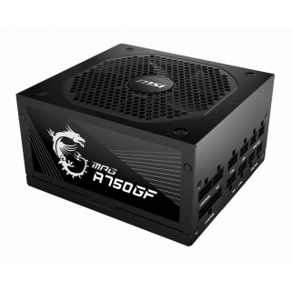 750W MSI PSU - MPG A750GF - 80 PLUS GOLD CERTIFIED, FULL MODULAR.