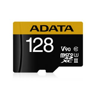 128GB ADATA Premier ONE microSDXC UHS-II U3 Class 10 (retail w/adaptor) -  AUSDX128GUII3CL10-CA1