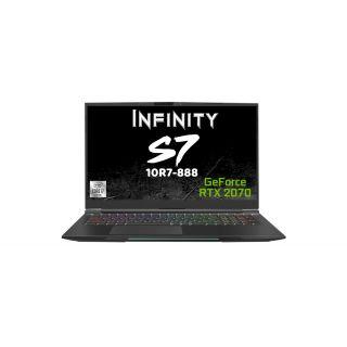 "INFINITY S7-10R7-888  - i7-10875H/16G/ 512GB SSD/RTX2070 /17.3"" FHD Narrow Bezel/240Hz/Mech KB/W10H"