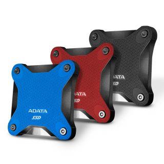 480GB EXTERNAL ADATA SSD Blue Shock Resistance USB3.1 - ASD600Q-480GU31-CBL