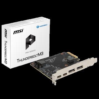 MSI THUNDERBOLTM3  CONTROLLER 2*DP, 2*Thunderbolt 3 port (type C).